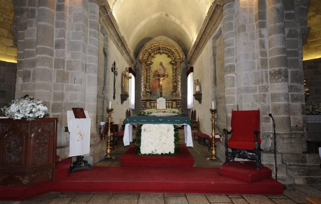 Capela-mor, interior do Mosteiro de S. Salvador de Travanca