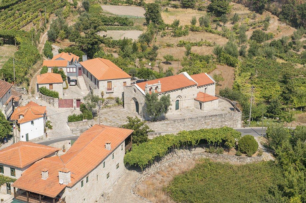 Vista aérea da Igreja de Santa Maria de Gondar
