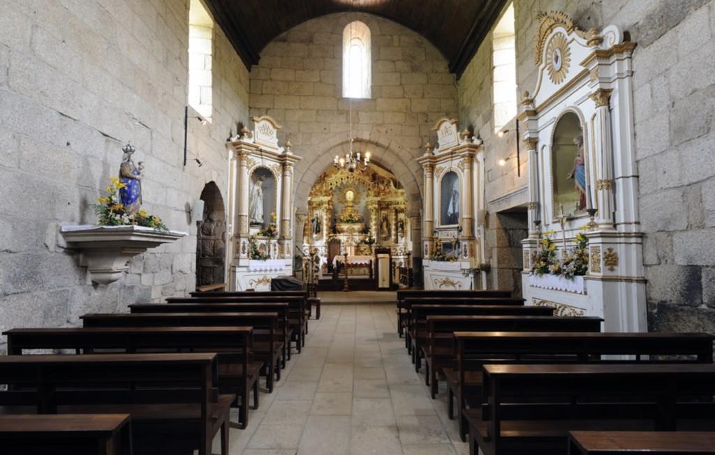 Nave e capela-mor, Interior do Mosteiro de São Martinho de Mancelos