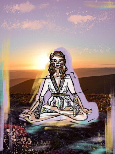 Ilustação de Meditação