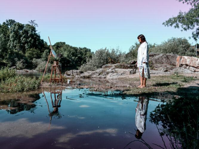 Pintar junto ao rio Tâmega